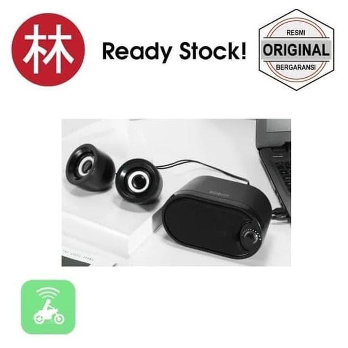 Foto Produk New model Robot RS170 Stereo Speaker with LED Black dari Marcellshop44