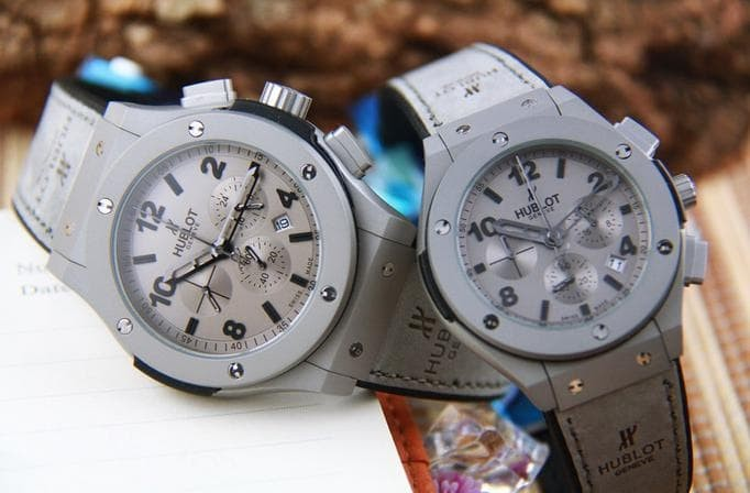 Jam Tangan Couple Merk Hublot Bigbang Geneve Type Hb 5828 Leather