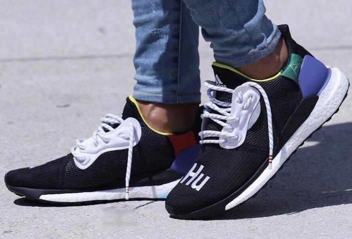 adidas Pharrell Williams x adidas Solar Hu Shoes Black