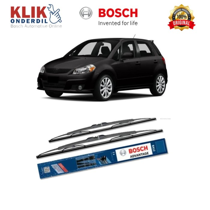 harga Bosch wiper kaca mobil suzuki sx4 hatchback 2006-on advantage 26 & 14 Tokopedia.com