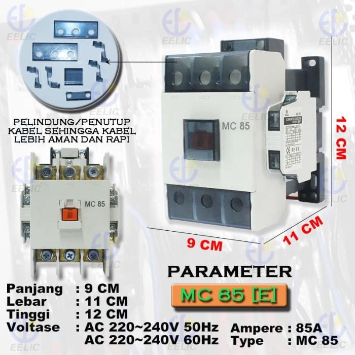 Jual EELIC COM-MC85 Contactor Magnetic 85A Coil Voltage 220V-240V 50 - 60 H  - Kota Surabaya - EELIC   Tokopedia