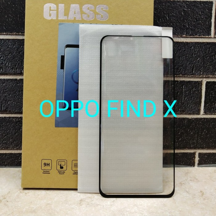 harga Oppo find x full glue tempered screen protector glass full lem curve Tokopedia.com