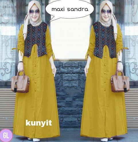 Atasan Wanita Muslim - Maxi Dress Hijab Maxi Sandra - Dzikri Moeslim ... 8b5a5435c5