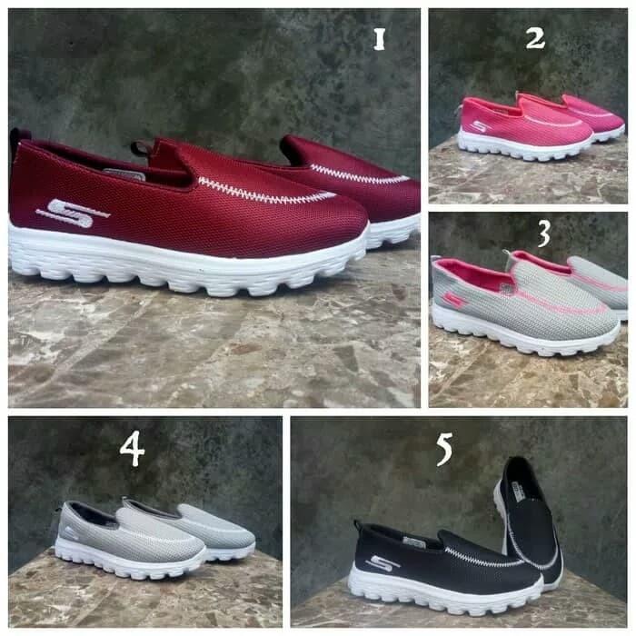 Jual Sepatu wanita Cewek SKETCHERS casual slip on Import Murah Ecer ... 4bc3cf6168