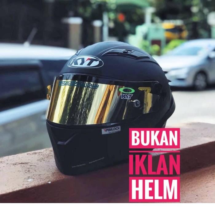 Foto Produk Tear Off KYT C5 Iridium Blue Silver Gold Smoke dari Helm Half Face VR46