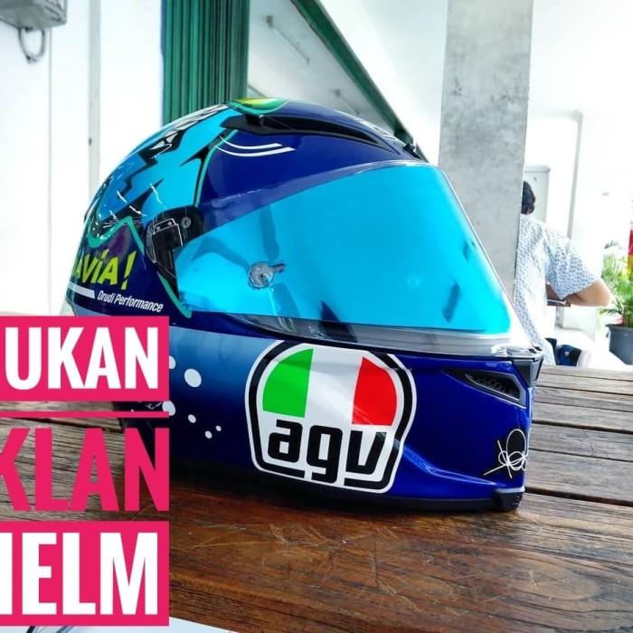 Foto Produk Tear Off AGV CORSA PISTA GP TECH Iridium Blue Silver Gold Smoke dari Helm Half Face VR46