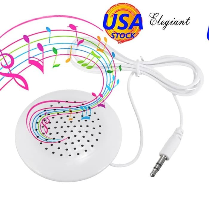 R SODIAL 3.5 mm plug Universal Mini Neck Pillow Speaker For iPhone iPod MP3 MP4 Player