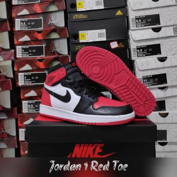 91c28c3f2ef457 Jual Jordan 1 Red Toe - Runnerstore