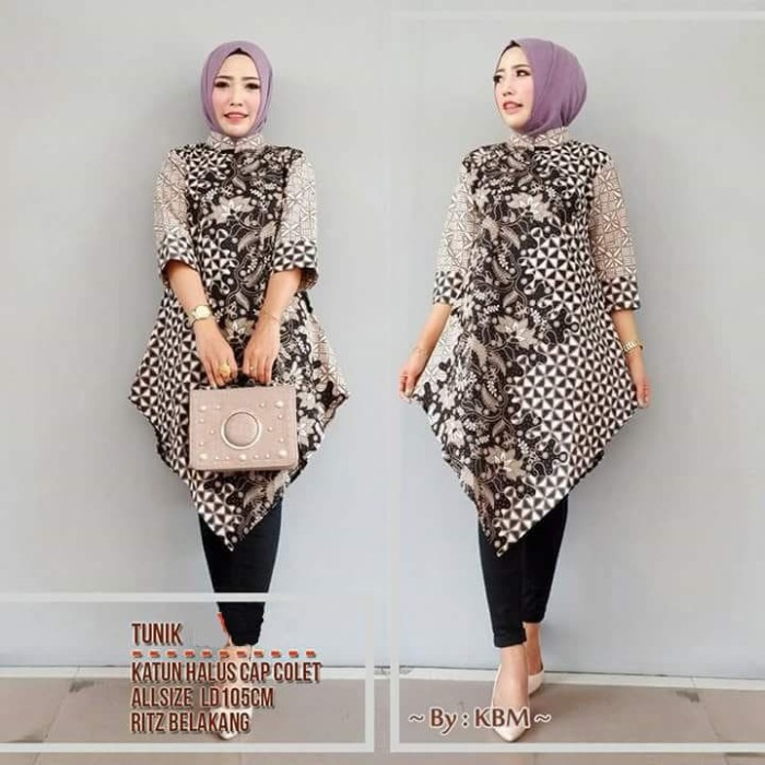 Jual Tunik Klasik Batik 5 Dress Batik Solo Baju Hijab Batik Modern Kota Surakarta De Solo Batik Tokopedia