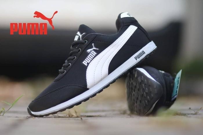 Jual sepatu casual pria puma joging black white murah - Anvan ... d3063b6508