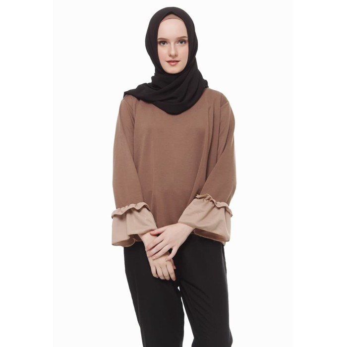 Mybamus two tone lucy top mocca m12483f r8s5