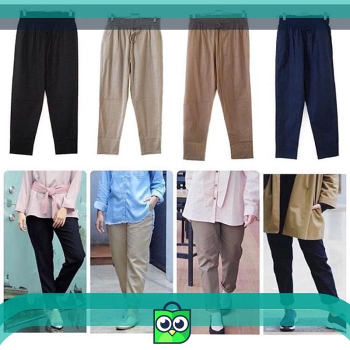 Jual Pants Wanita Casual Chino Bahan Celana Fashion Grosir Muslim