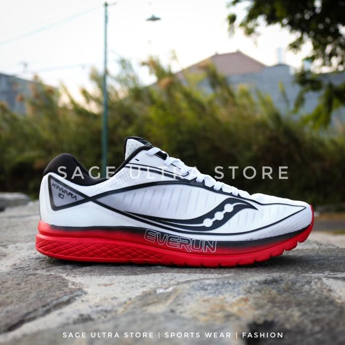 Jual Saucony Kinvara 10 - White Red - Sepatu Lari Running Shoes ... dc193e675e