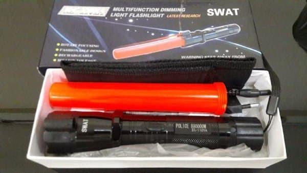 Flash Senter SWAT Police / Senter Setrum / Stun Gun sale.