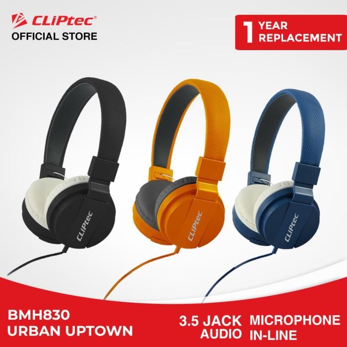 harga Cliptec bmh830 - urban uptown | stereo headphone murah promo bass - blue Tokopedia.com