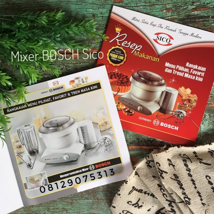 Foto Produk Buku Resep Mixer BOSCH dari Mixer BOSCH SICO
