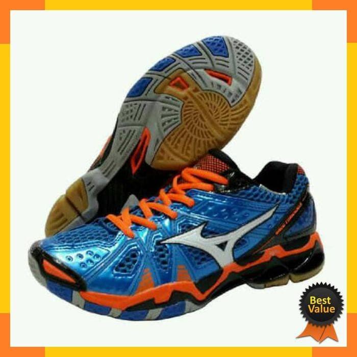 Sepatu Voli Mizuno V1ga177065 Thunder Blade Blue Mirage Fiery Coral ... c9b6241142