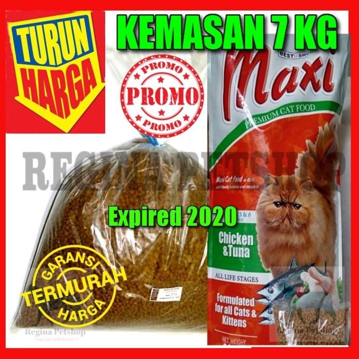 Makanan Kucing MAXI Cat Food CHICKEN TUNA PREMIUM REPACK 7 KG PROMO