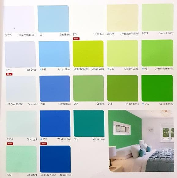 Katalog Warna Cat Besi Nippon Paint Ide Perpaduan Warna