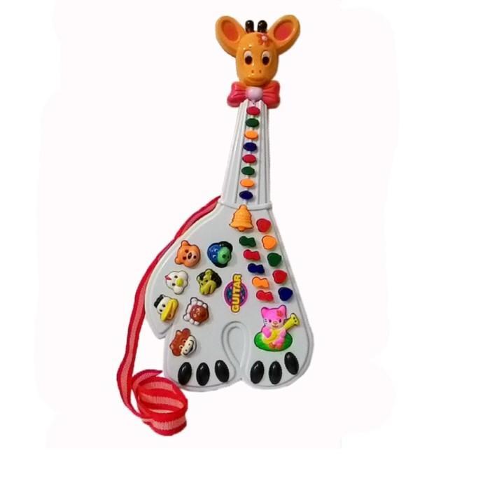 Mainan Gitar Anak Jerapah Mainan Edukasi Anak - Putih