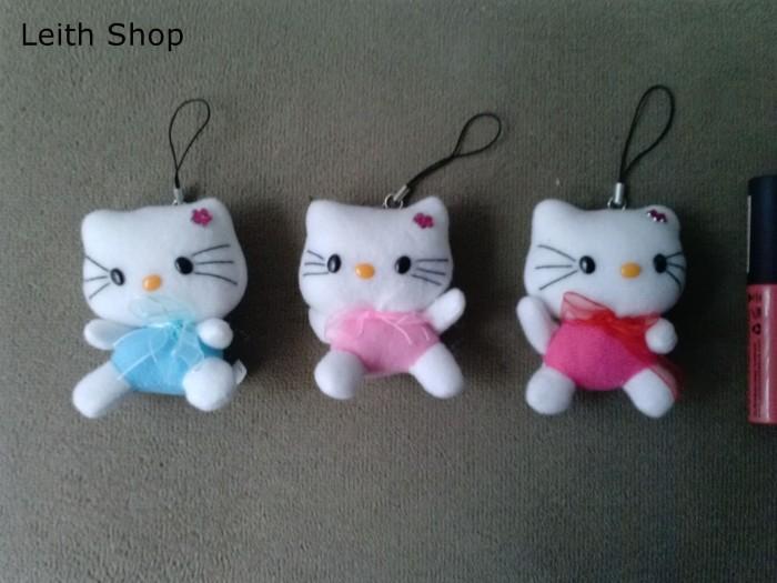 Foto Produk Boneka Hello Kitty Love Heart Small Strap HP Gantungan Kunci Keychain dari LeithShop