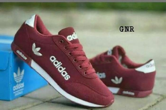 Sepatu Kets Sneaker ADDS   Sepatu Jalan Wanita Sepatu Olahraga - Marun 6bdf528bb5