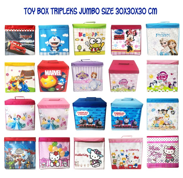 harga Toy box tripleks aneka karakter foldable storage kotak mainan boneka Tokopedia.com