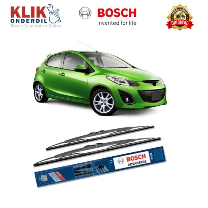 harga Bosch sepasang wiper kaca mobil mazda 2 de (2007) advantage 24  & 14 Tokopedia.com