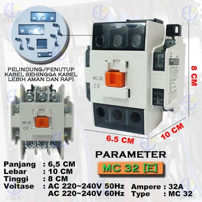Jual EELIC COM-MC32 Contactor Magnetic 32A Coil Voltage 220V-240V 50 - 60 H  - Kota Surabaya - EELIC   Tokopedia