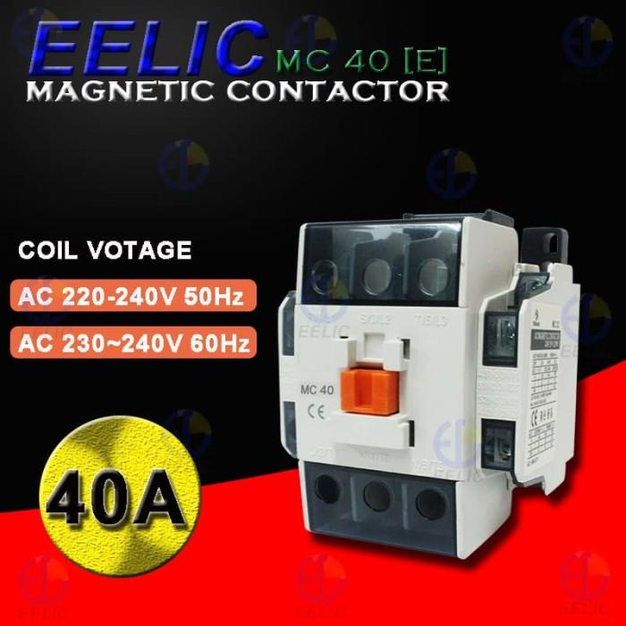 Jual EELIC COM-MC40 Contactor Magnetic 40A Coil Voltage 220V-240V 50 - 60 H  - Kota Surabaya - EELIC   Tokopedia