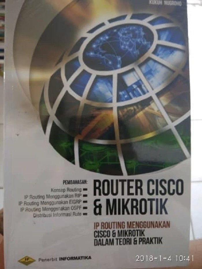 harga Buku cisco : router cisco & mikrotik ip routing  kukuh nugroho Tokopedia.com