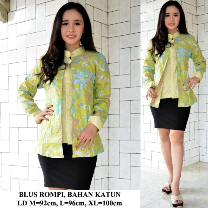 Jual Blouse Sol Rompi Atasan Batik Wanita Murah Seragam Batik Wanita Baju Kota Pekalongan Krispena Collection Tokopedia
