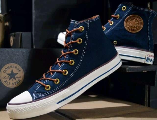 Jual sepatu casual pria converse tali tan high navy baru - Anvan ... ffe7a36142