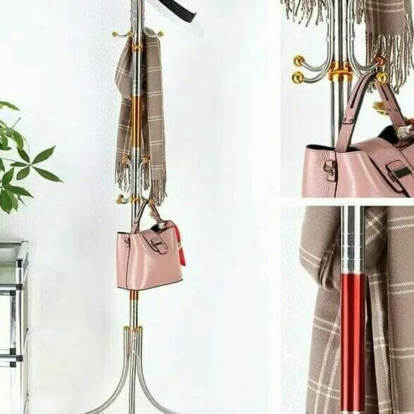Jual AJ Stand Hanger Gantungan Baju Topi Tas DLK XW288 Original ... 2d81c6302d