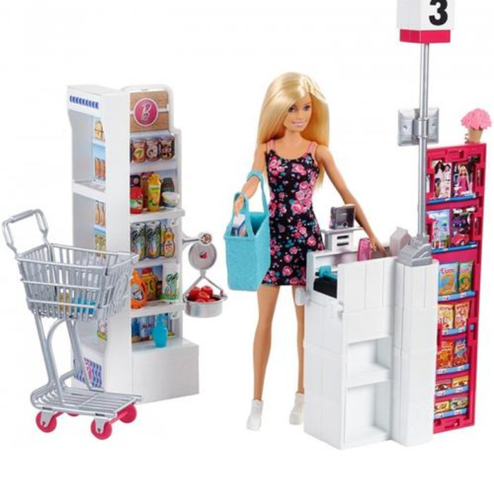 Jual Boneka Barbie Supermarket Playset Original Barbie Furniture