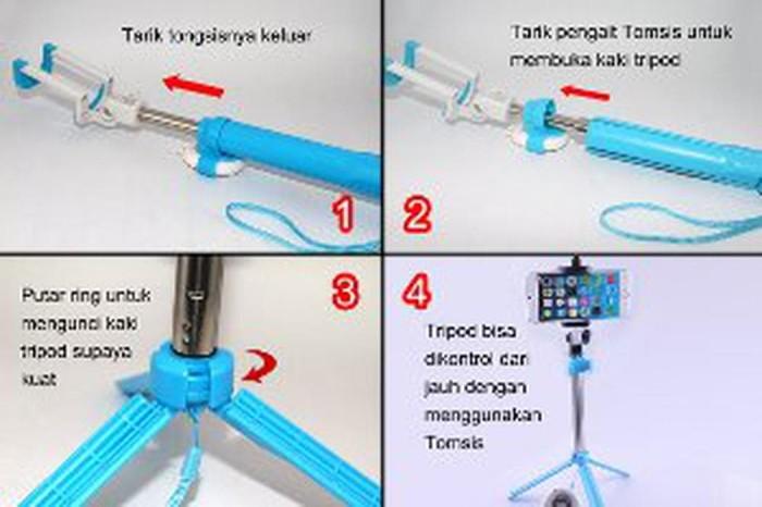 Tongsis 3 in 1 with Bluetooth Shutter Mini Tripod Tomsi Berkualitas