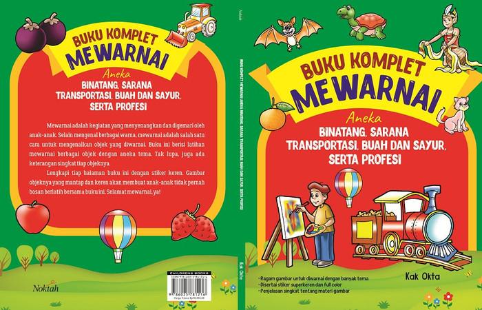 Jual Buku Komplet Mewarnai Aneka Binatang Sarana Transportasi