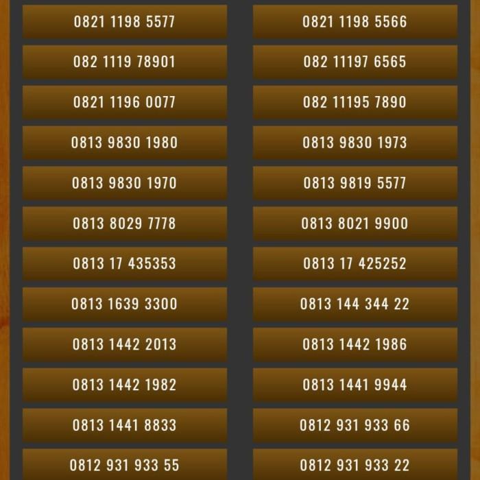 Nomor Nomer Cantik Kartu Perdana Telkomsel Simpati