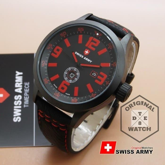 Jam Tangan Pria ORIGINAL Swiss Army 8057M Leather 1 Year Guaranted ad71e03d6d