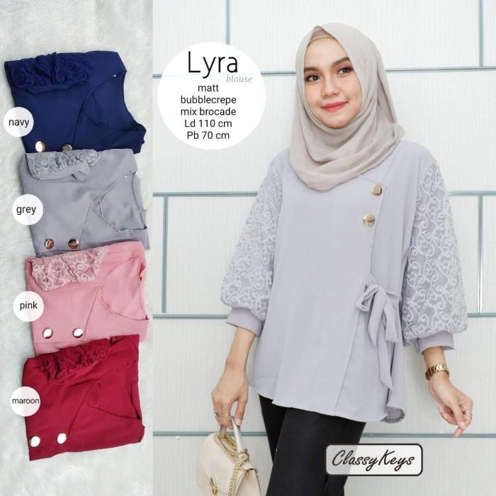 baju wanita remaja dewasa atasan kyra blouse muslim camtik lucu keren