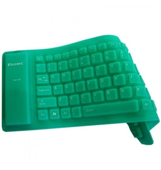 (Murah) Keyboard USB Flexible Waterproff Mini - Hitam