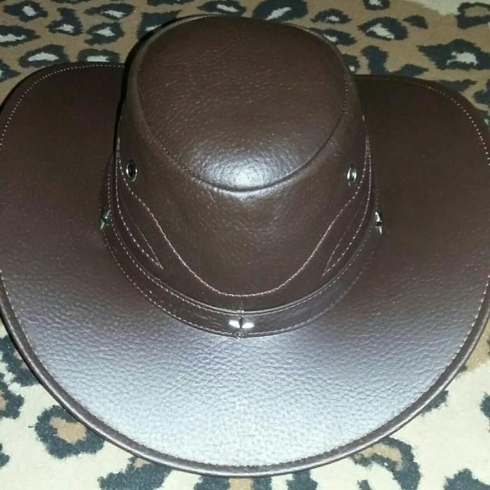 Jual topi koboi kulit sapi topi laken full kulit - - Amigos leather ... 9f94d39e5b