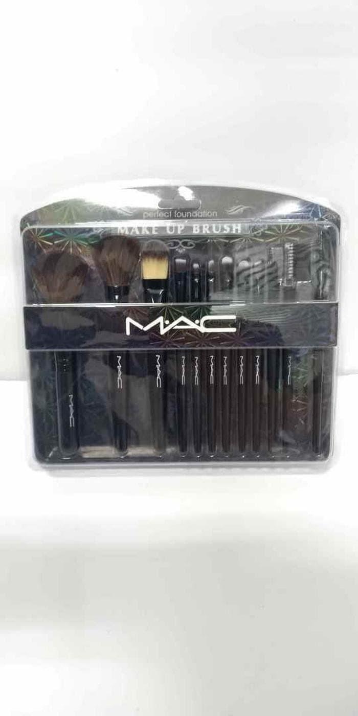 kuas set isi 12 pcs MAC mika papan original