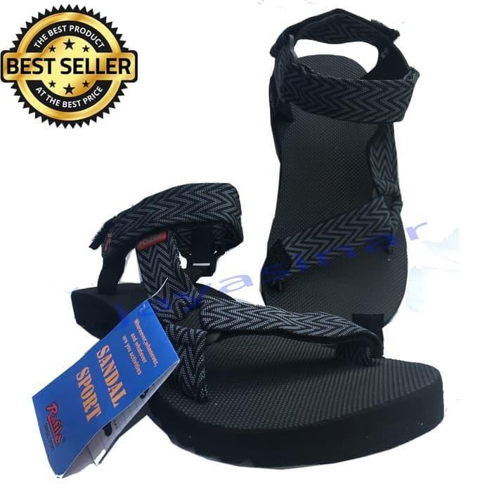 Sandal Gunung Pria Rafila Original Model Terbaru/Fashion Pria - Hitam-
