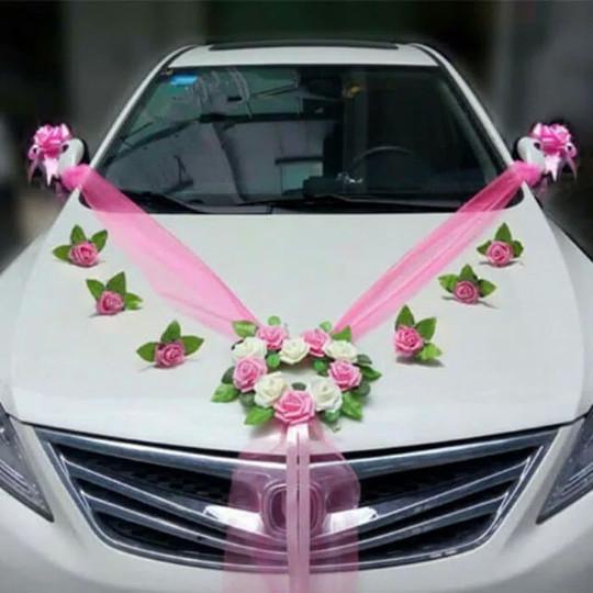 Jual Buket Bunga Hiasan Mobil Pengantin Bisa Request Warna N Bentuk Kota Palembang Buketbungasatinanhn Tokopedia