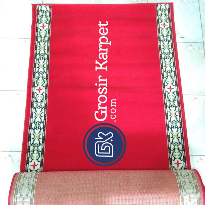 Home; Karpet sajadah masjid shafira 105 x 570 cm polos merah