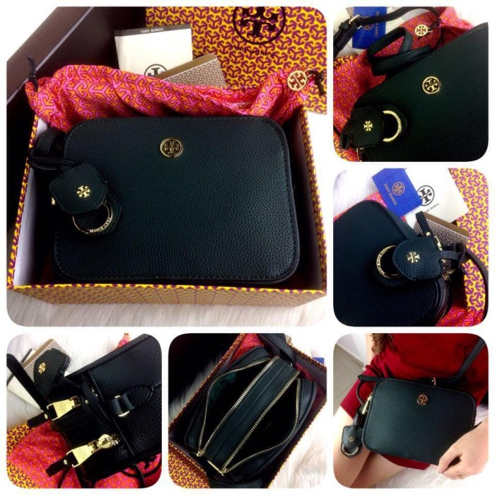 2a984885f241 Jual TORY BURCH 606 12 H 310rb Robinson Pebbled Leather Double Zip ...