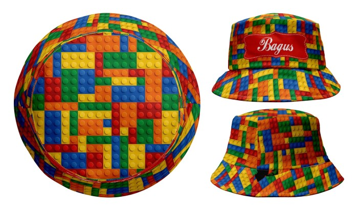 Jual Bucket Hat - Colorful Lego - Toddler - babyjec  fbe878f5231f