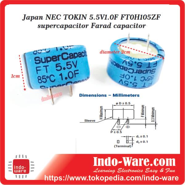 Jual Japan NEC TOKIN 5 5V1 0F FT0H105ZF supercapacitor Farad capacitor nec  - Kota Semarang - indo-ware   Tokopedia