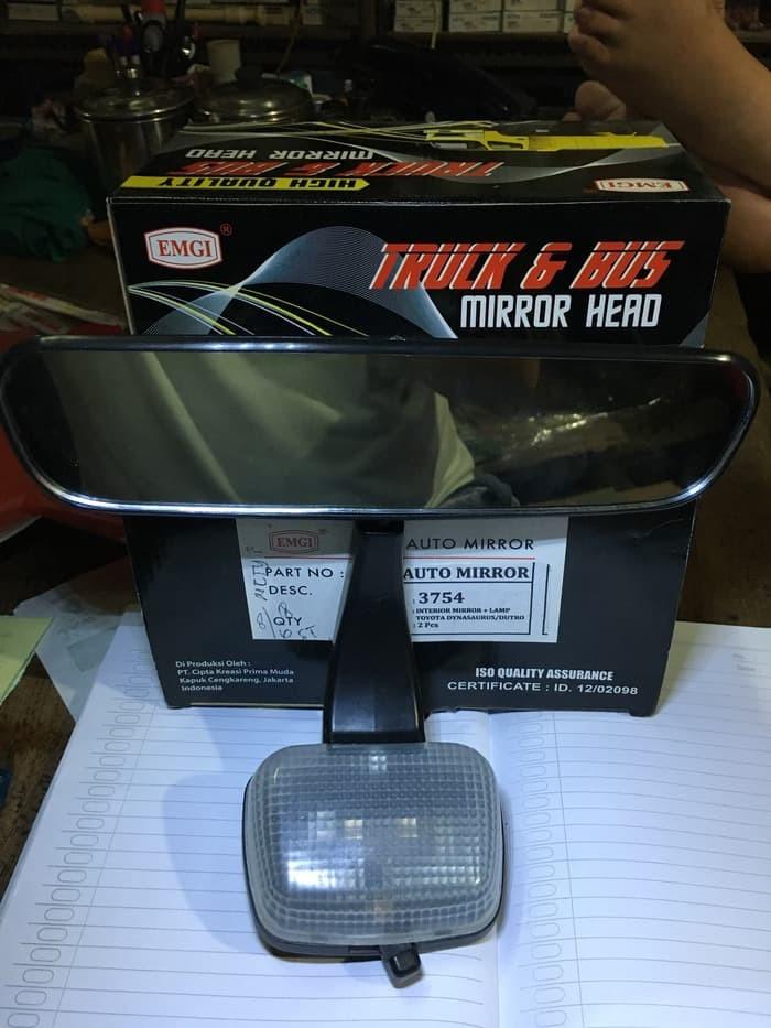 harga 1 buah kaca spion dalam interior mirror + lamp rinosaurus / hino dutro Tokopedia.com